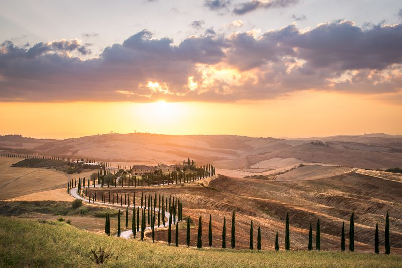 #sunset #tuscany #wine #summer #travel #journey Sunset in Tuscanyphoto preview