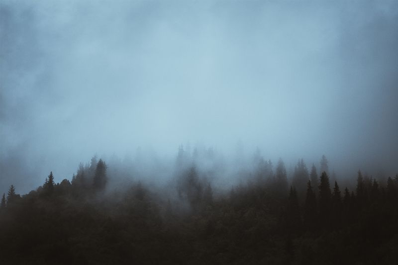 горы, природа, пейзаж, лето, перевал, зелень Туманphoto preview