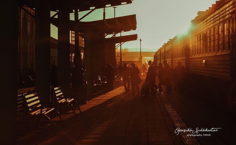 train,morning, sun shine,shine  Morning trainphoto preview