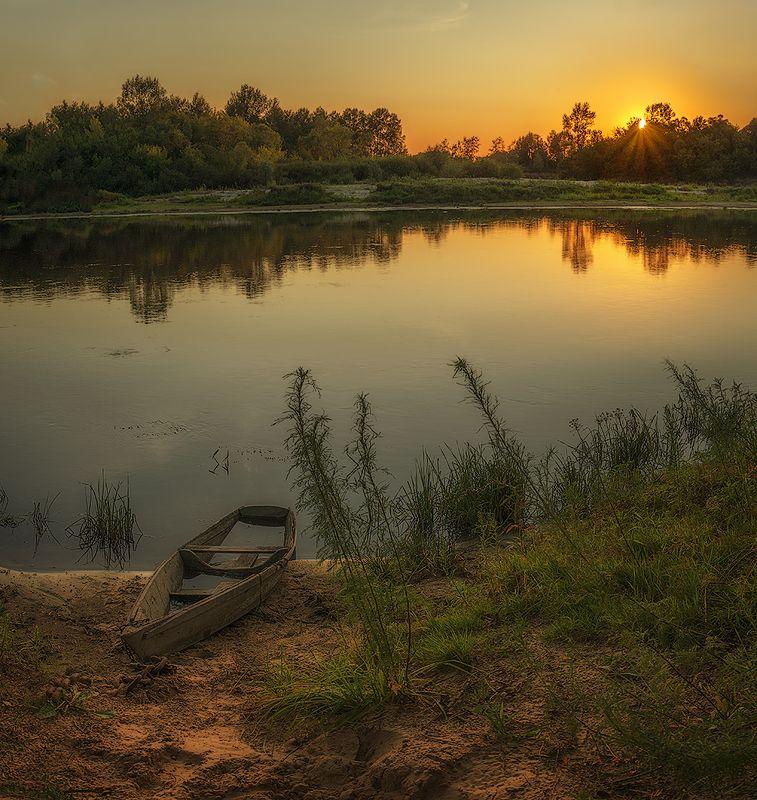 золотые пески беларусь сож река вечер берег облака закат Золотой вечерphoto preview