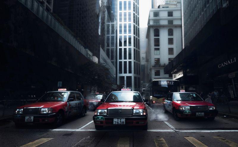 город, архитектура, стрит, такси, гонконг, азия Движениеphoto preview