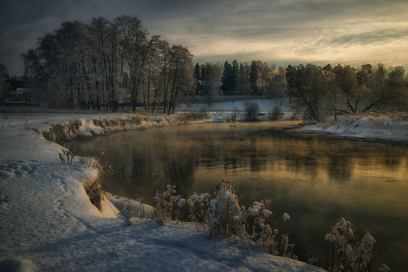 зима река пехорка Пехоркаphoto preview