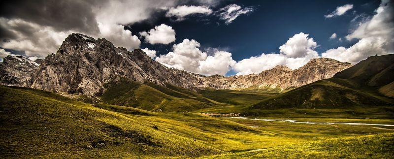 горы, природа, пейзаж, лето, перевал, зелень Горы №364photo preview