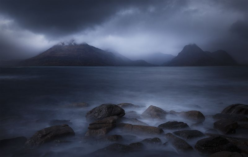 scotland, isleofskye, elgol, nature, landscape, пейзаж, clouds, dramatic Scotland, Elgolphoto preview