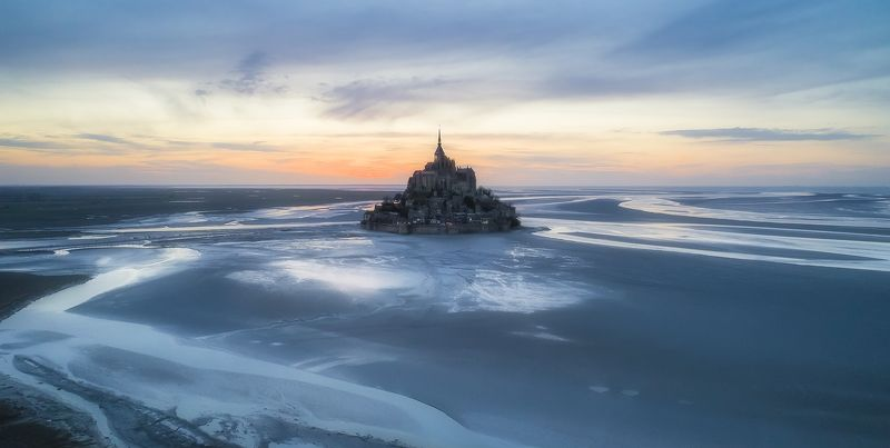 mont saint michel, france, normandy, sunset A thousand years ago. Le MSMphoto preview