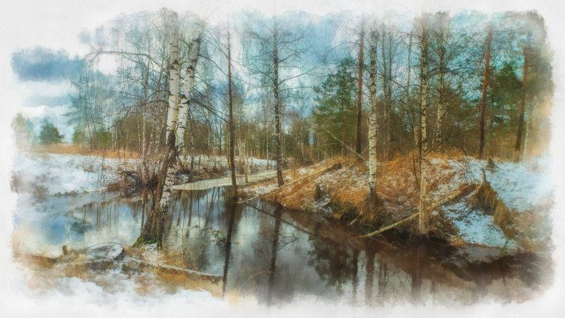 весна, орехово-зуево, природа подмосковья Весенняя акварель 2photo preview