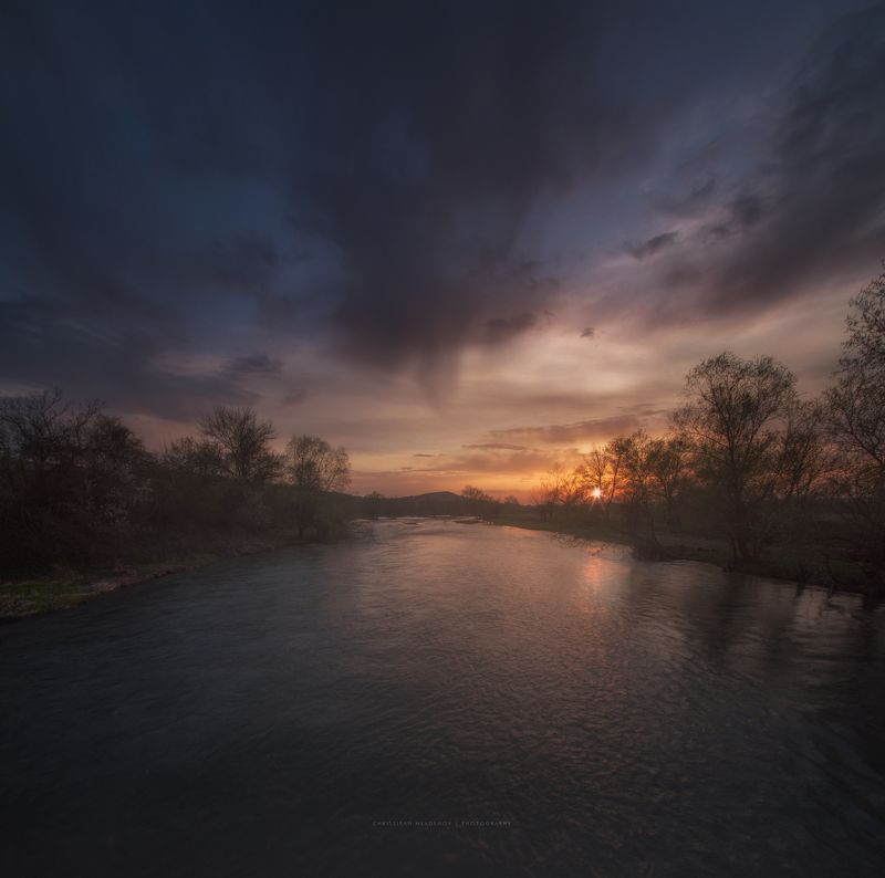 landscape, sunset, bulgaria, river, panorama, nature, long exposure, sun, evening, light, golden hour, warm, colorfull, dreamy, glow, sky, clouds Almusphoto preview