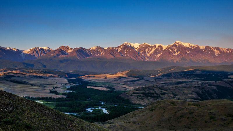 лето, горы, рассвет, Горный Алтай  Рассветная .photo preview