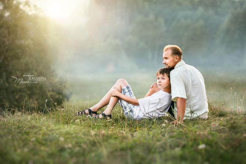 семья. дети, природа, закат, тишина, отдых photo preview