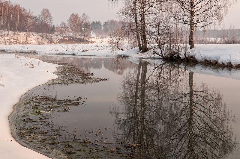 весна, река, туман Весеннее утроphoto preview