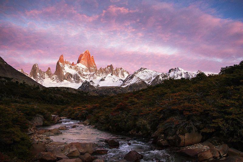 fitzroy sunrise el chalten Fitz Roy sunrisephoto preview