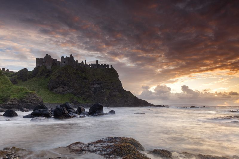 замок, закат, ирландия, пейзаж, ireland, seascape, castle, sunset Dunluce Castlephoto preview