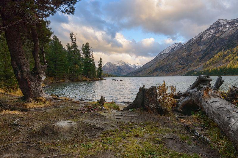 алтай, осень, озеро, горы Среднее Мультинское озероphoto preview
