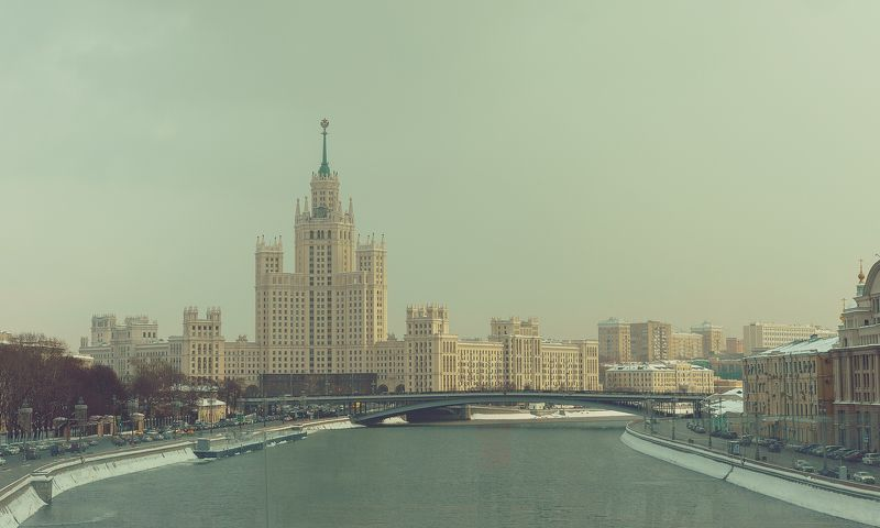 postcard with Moscow\'s winterphoto preview