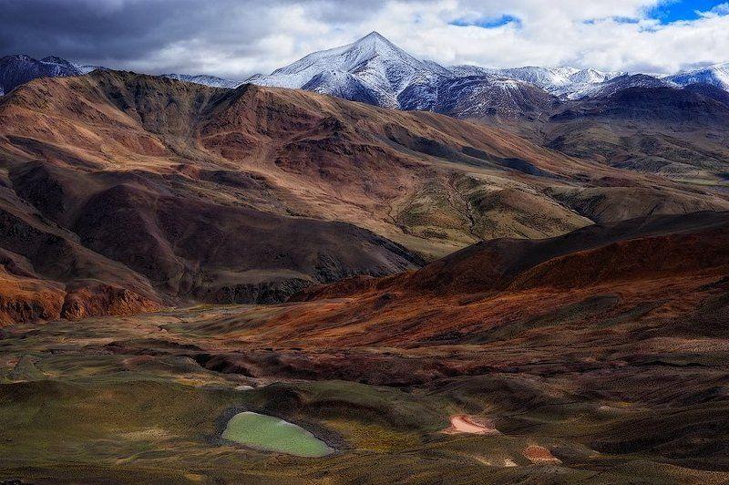 тибет, горы, лужи Горы и лужиphoto preview