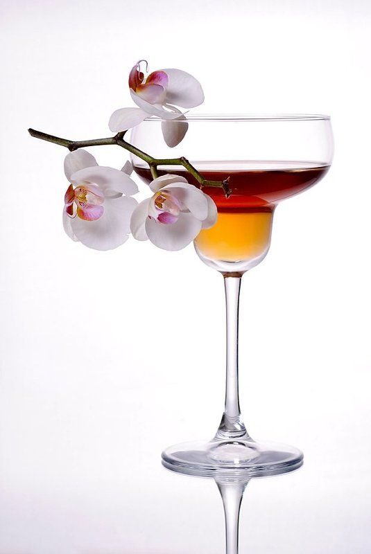 бокал, орхидея, предметная съемка, фотонатюрморт, цветы Бордоphoto preview