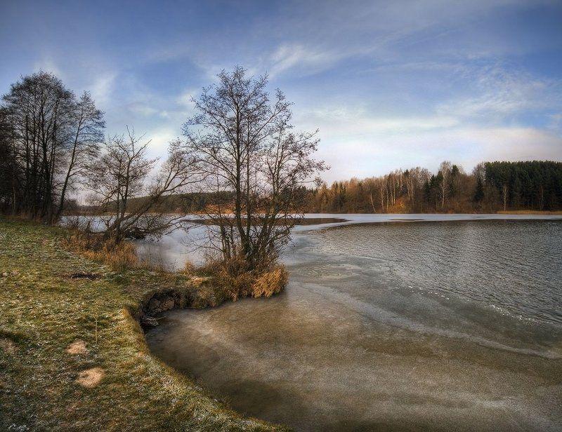 первый, лед, птичь, ноябрь | Ледоставная |photo preview