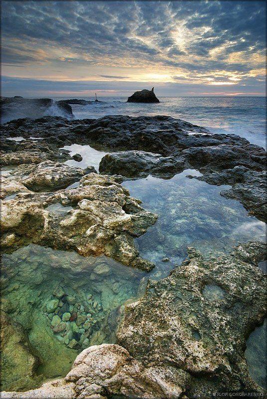 море, пейзаж, крым, закат, Прозрачностьphoto preview