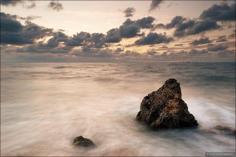море, пейзаж, крым, закат, Ожиданиеphoto preview