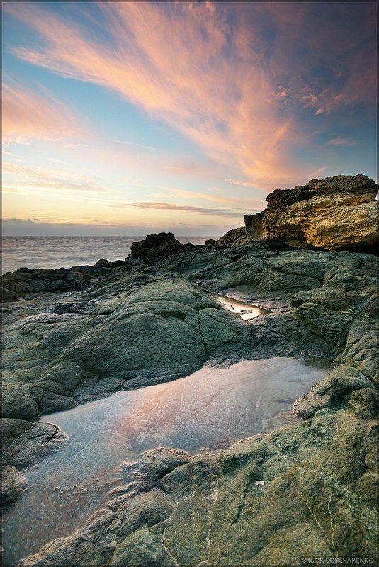 море, пейзаж, крым, закат, Геологияphoto preview