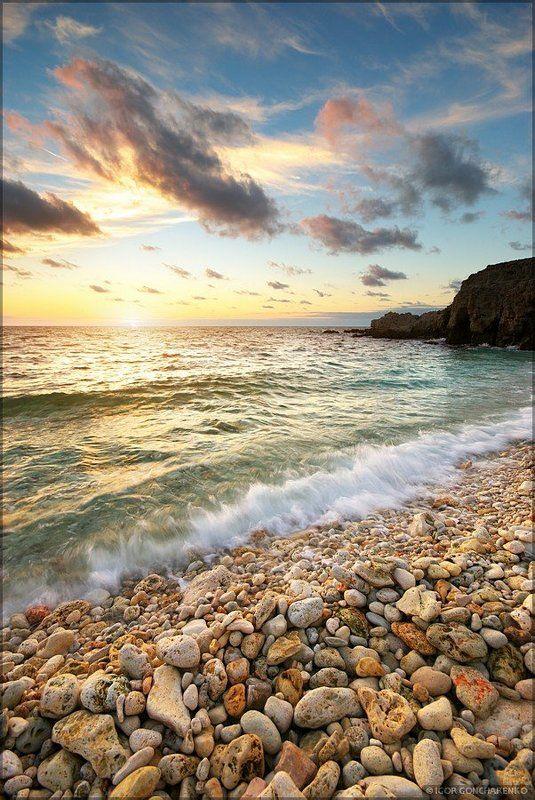 море, пейзаж, крым, закат, Тепло осеннего моряphoto preview
