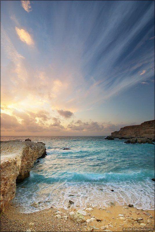 море, пейзаж, крым, закат, Штормовоеphoto preview
