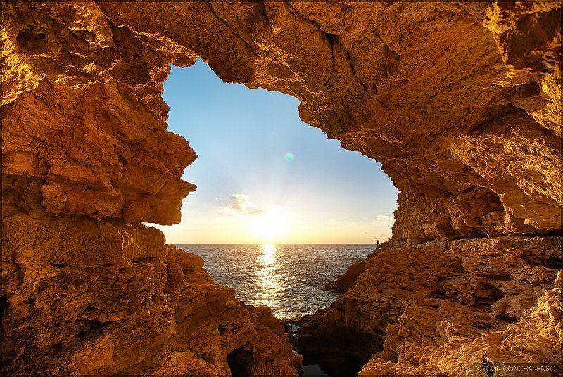 море, пейзаж, крым, закат, грот Гротphoto preview