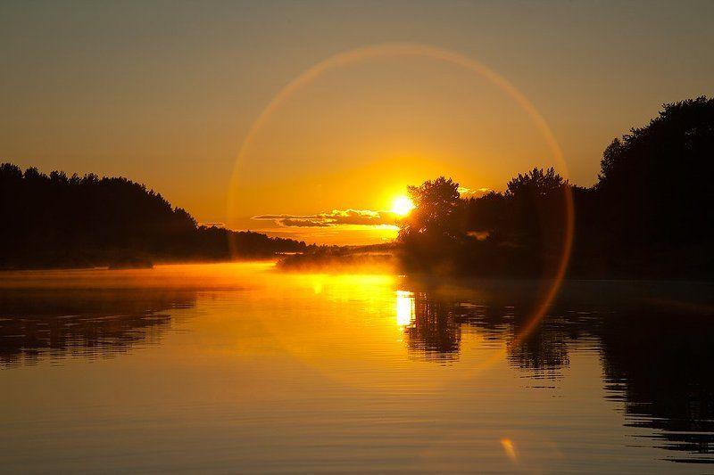 молога, тверская, область, река, закат, солнце, небо, вода Мологаphoto preview