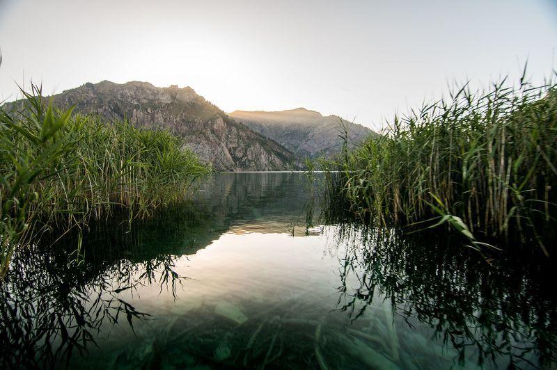 горы, природа, пейзаж, лето, озеро, вода Сары-Челек, высокогорное озероphoto preview