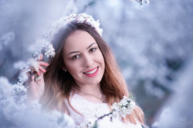 portrait, spring, blossom, beauty, girl, ***photo preview