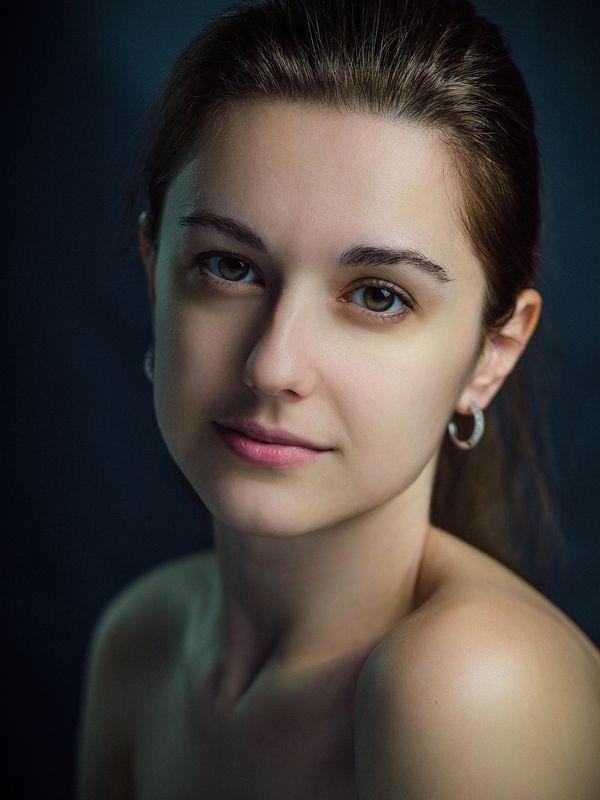 Портрет, Девушка, Студия, Юность, Красота, Глаза Классический студийныйphoto preview