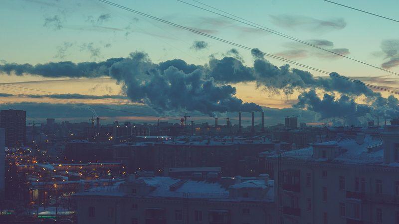 evening, winter, city,  eveningphoto preview