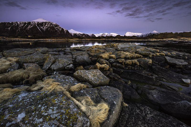 rocks, stones, landscape, blue hour, mountain, norway, Blue Eveningphoto preview