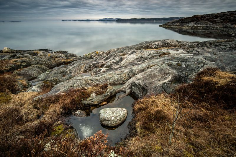 rocks, stones, landscape, cloudy, norway, sea, beach Rocky Beachphoto preview