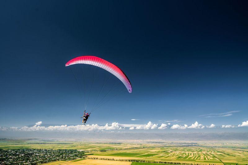 горы, природа, пейзаж, лето, озеро, параплан, туризм, полет Путешествиеphoto preview