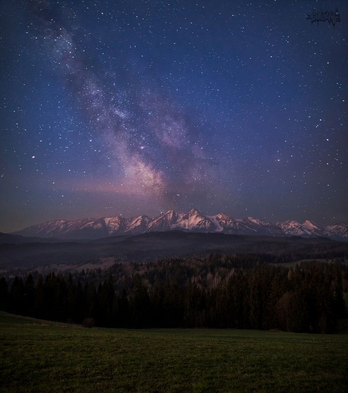 sowart  Milky way moutainphoto preview