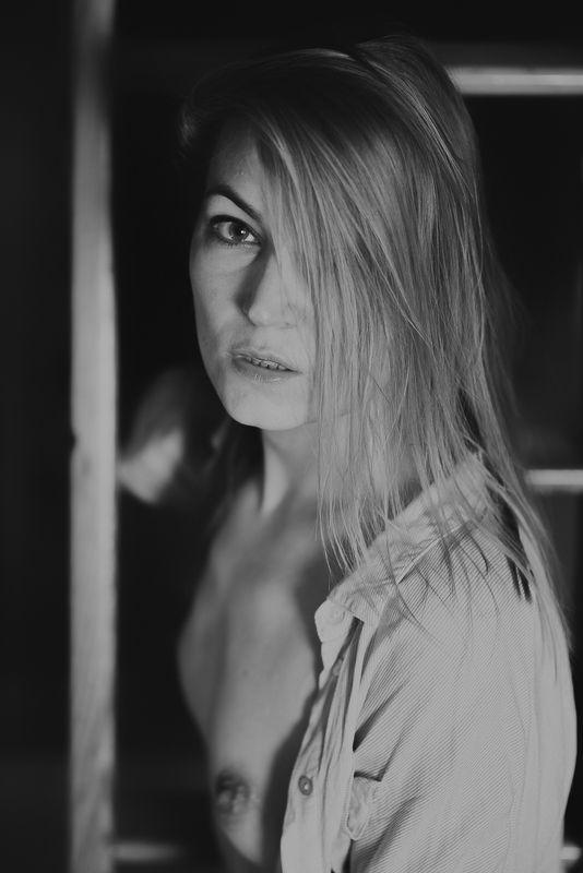 girl, woman, арт, портрет, portrait, женщина, bw Alicja  March 2018photo preview