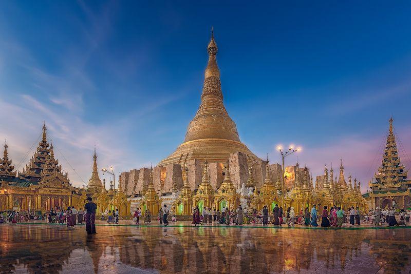 Шедагон,пагода,янгон,путешествия,бирма,город,архитектура, Золото Бирмы.photo preview