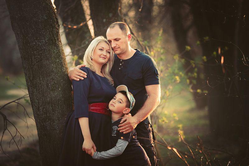 семья, портрет, весна, ребенок photo preview