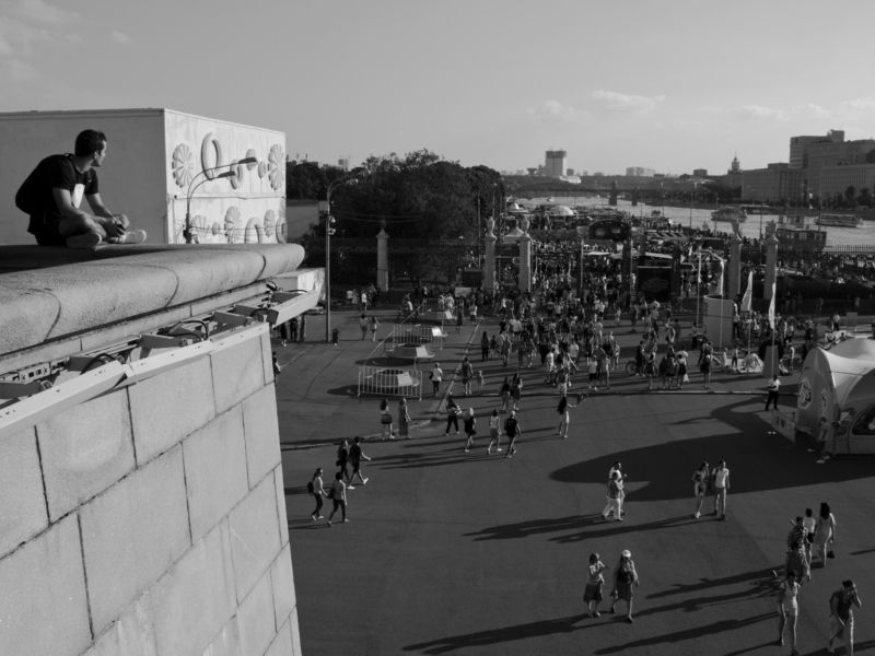 Moscow, Russia, Monochrome, Black and white, City, Dreaming Dreaming is freephoto preview