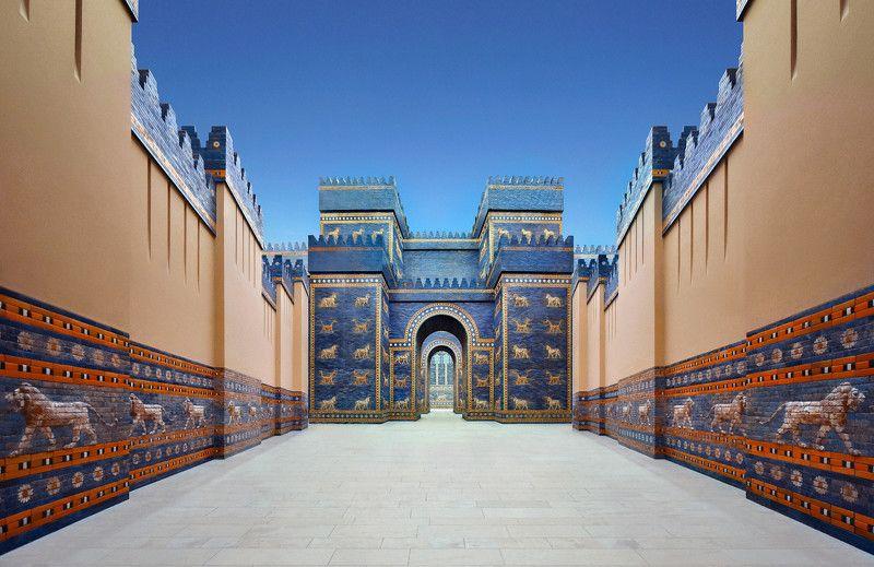 babylon, collage, museum, city, architecture, ancient, ishtar, marduk, nabuchodonosor, reconstruction, gate, pergamon Вавилонphoto preview