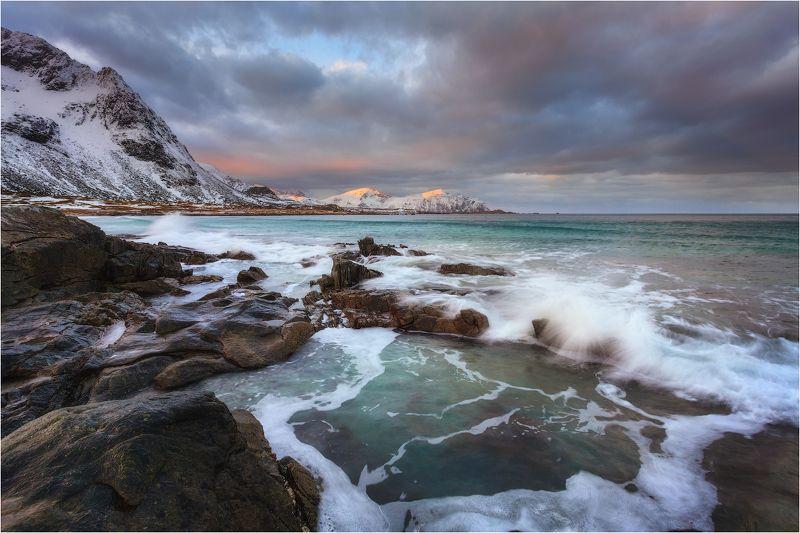skagsanden beach,lofoten islands.norway. photo preview