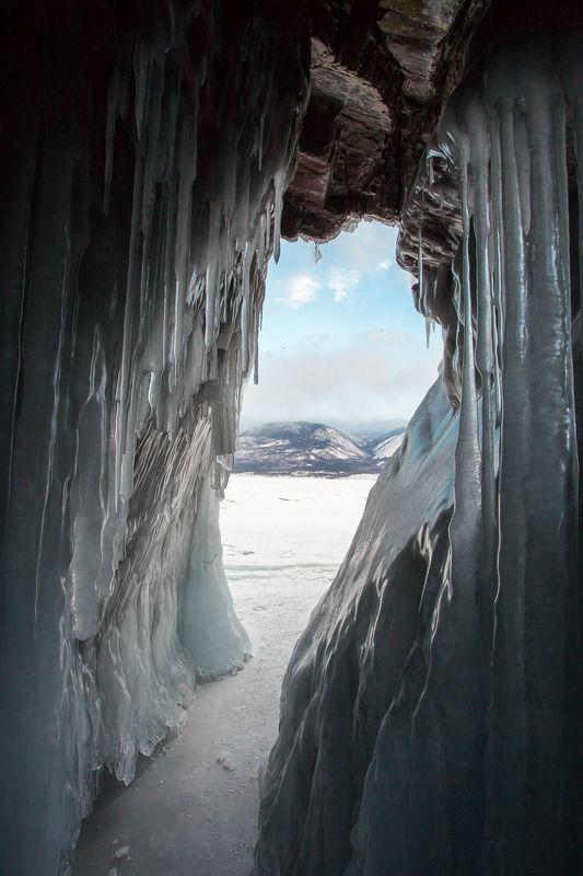 пещера, лед, сосульки, Байкал, ледяная пещера Ледяная пещера. Байкал.photo preview