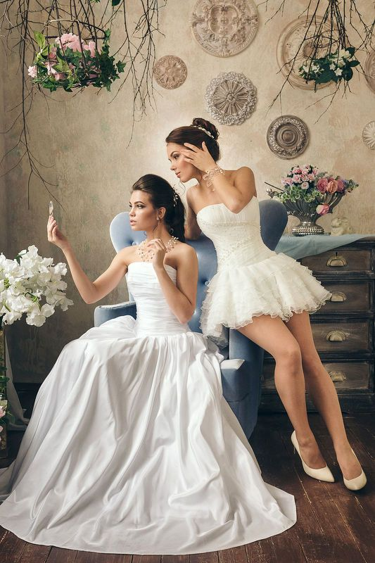 портрет, студия, невеста Девичьи посиделкиphoto preview