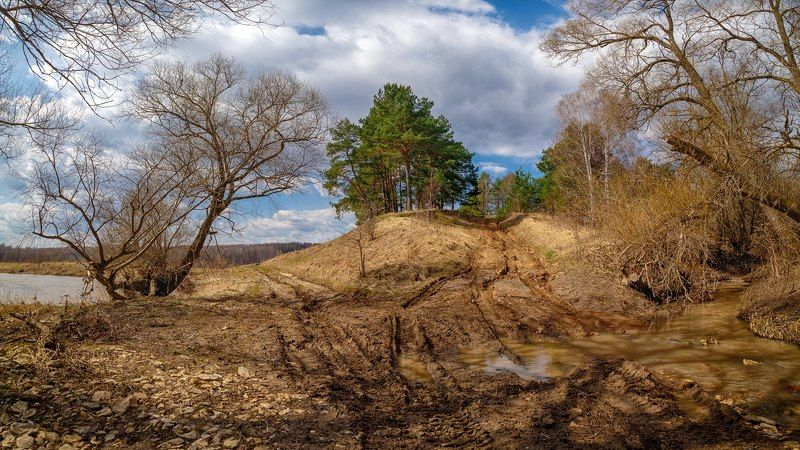 весна распутица таруса дорога Весна на р.Тарусаphoto preview