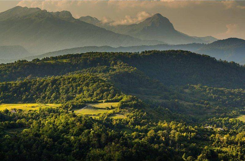 горы, солнце, солнечный свет, лето, пейзаж, природа В солнечном светеphoto preview
