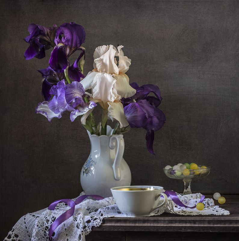 натюрморт, цветы, ирисы, still life Еще раз про ирисыphoto preview