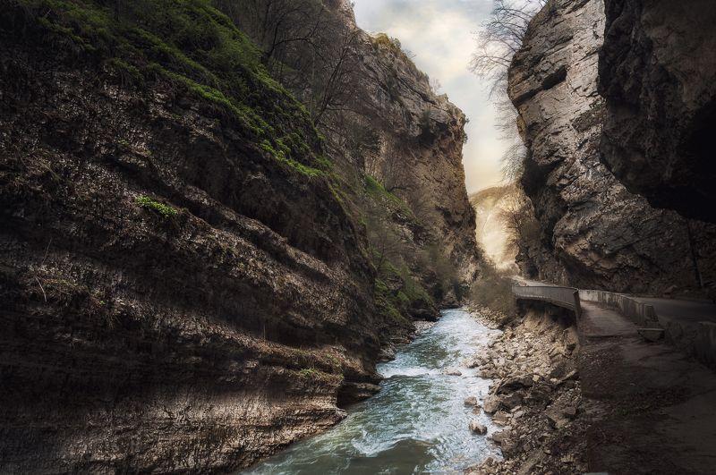 природа, пейзаж, трэвел, река, горы, ущелье Чегемphoto preview