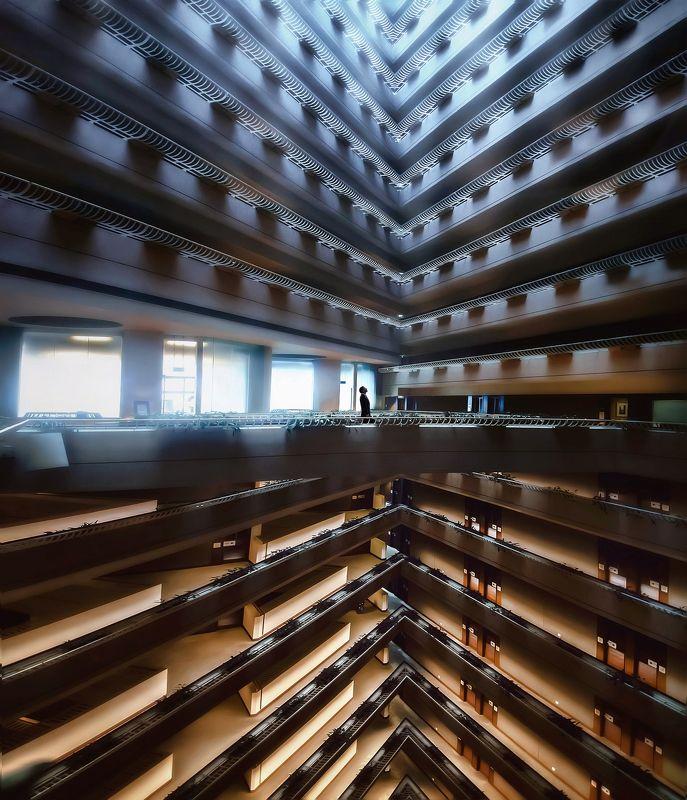 симметрия, архитектура, атриум, сингапур Альфа Омикронphoto preview