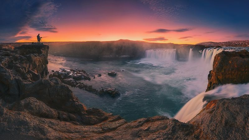 iceland, nikon, travel, landscape, sunrise, water, ice, glacier, reflection, digital, photography, adventure, waterscape, panorama, cliffs, human, colors, sea arch, Shooting With Godsphoto preview